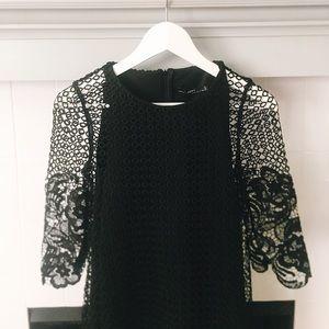 👗 Zara Black Lace Shift Party Dress